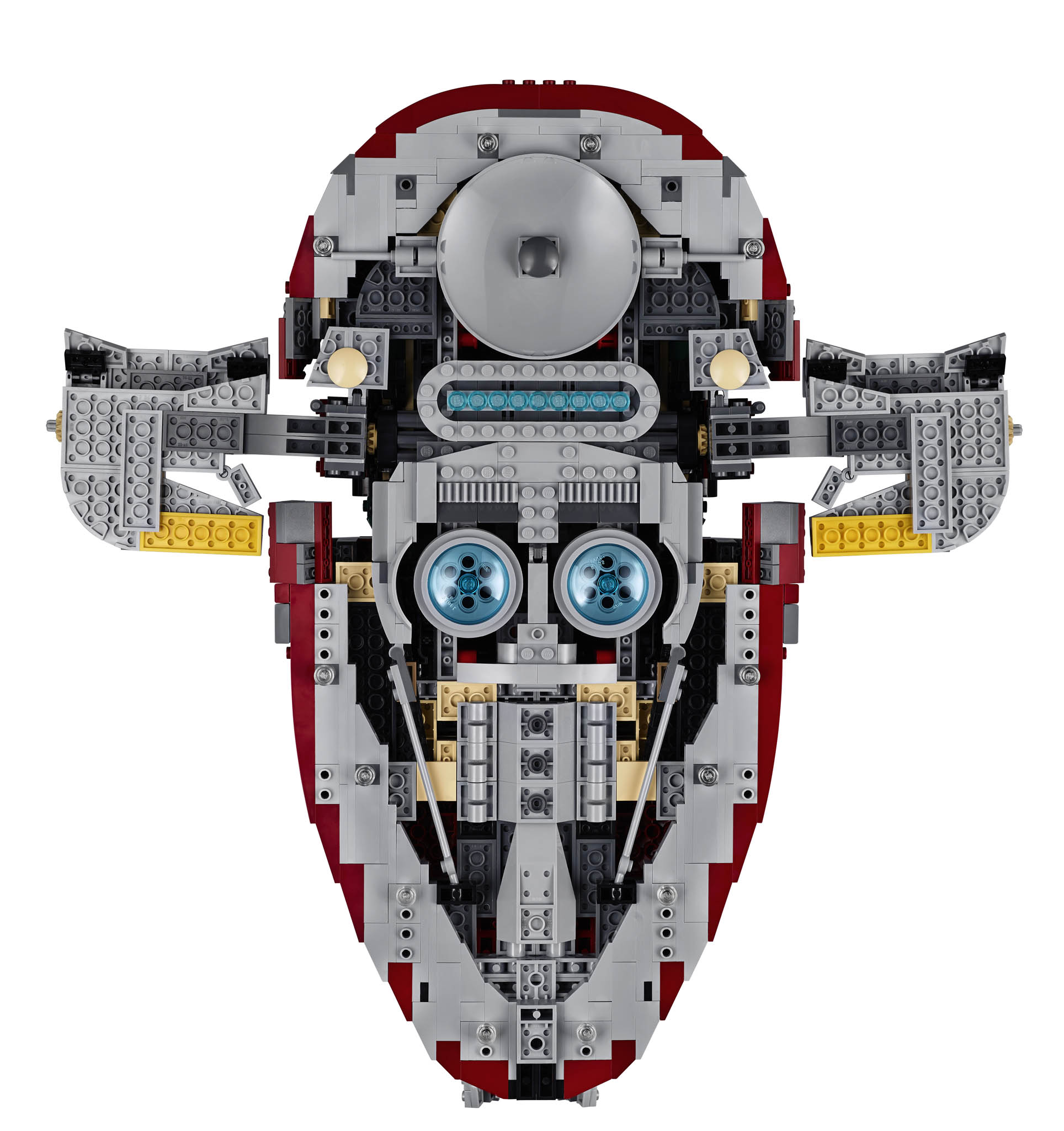 The design at the bottom of the 75060 Slave I Ship